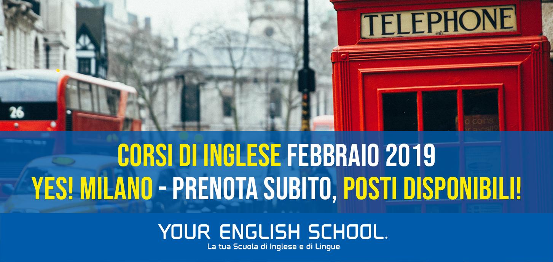YES! Milano corsi di inglese: posti disponibili!